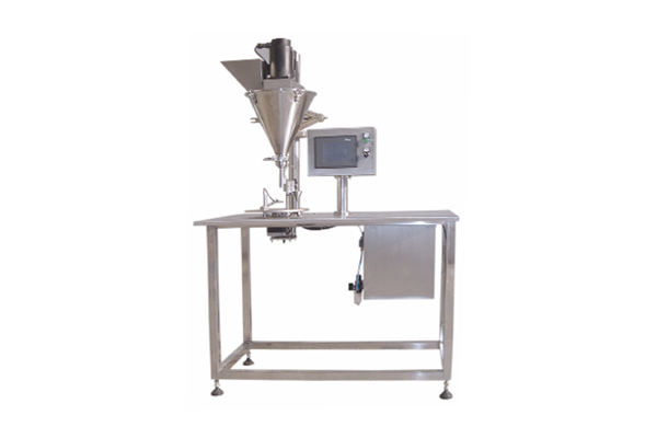 Semi-automatic auger filler with touch screen
